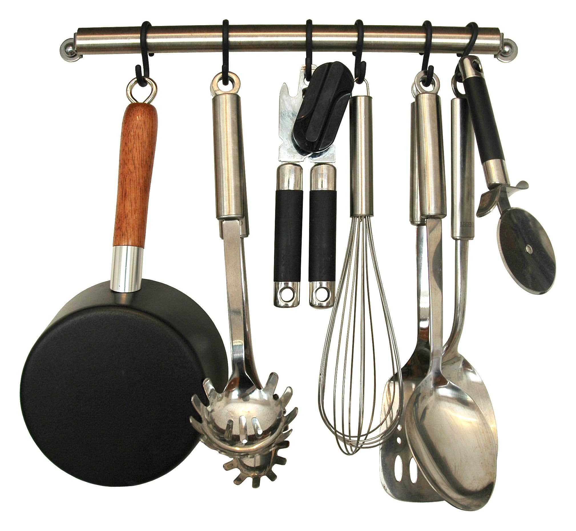 Place kitchen utensils where you will use them
