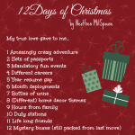 12 Days of Christmas NextGen MilSpouse Edition!