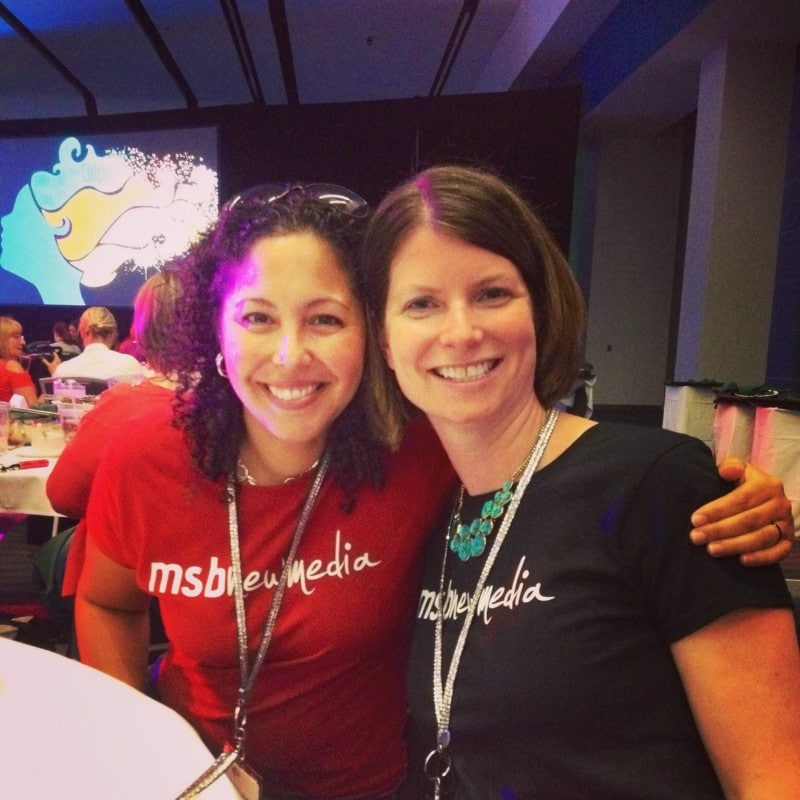 Adrianna and Michelle of NextGen MilSpouse at BlogHer 2014.
