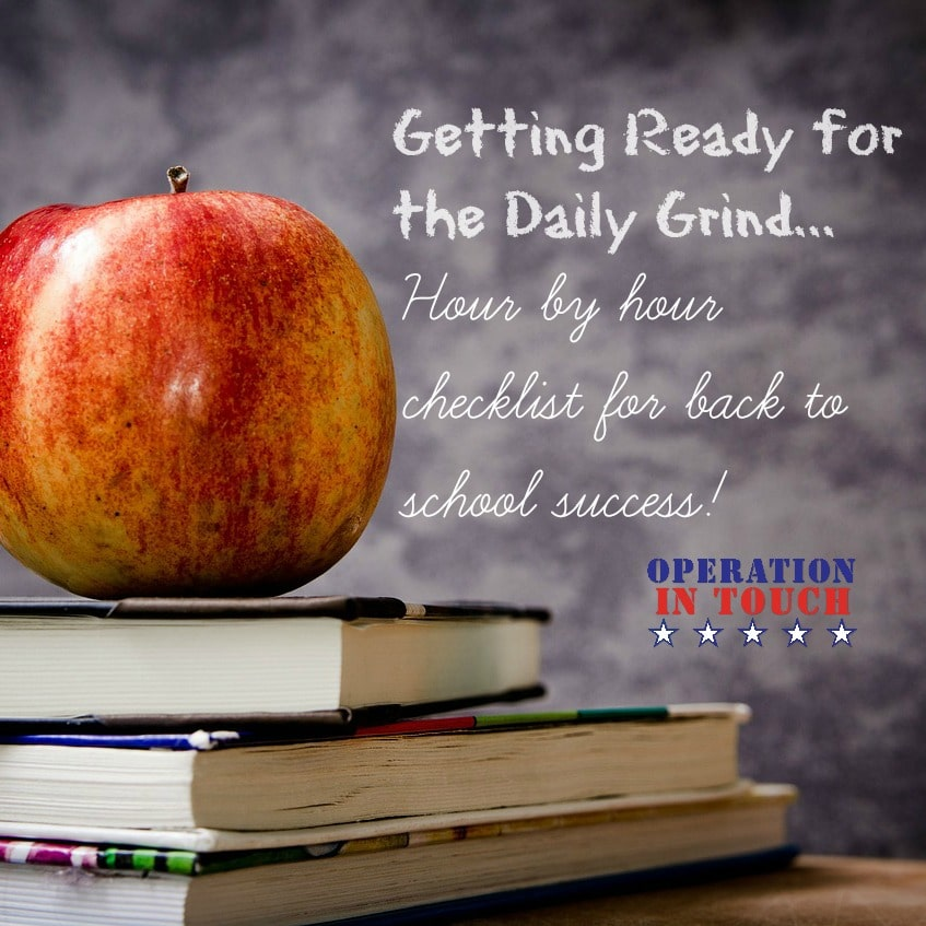 operation in touch back to school checklist