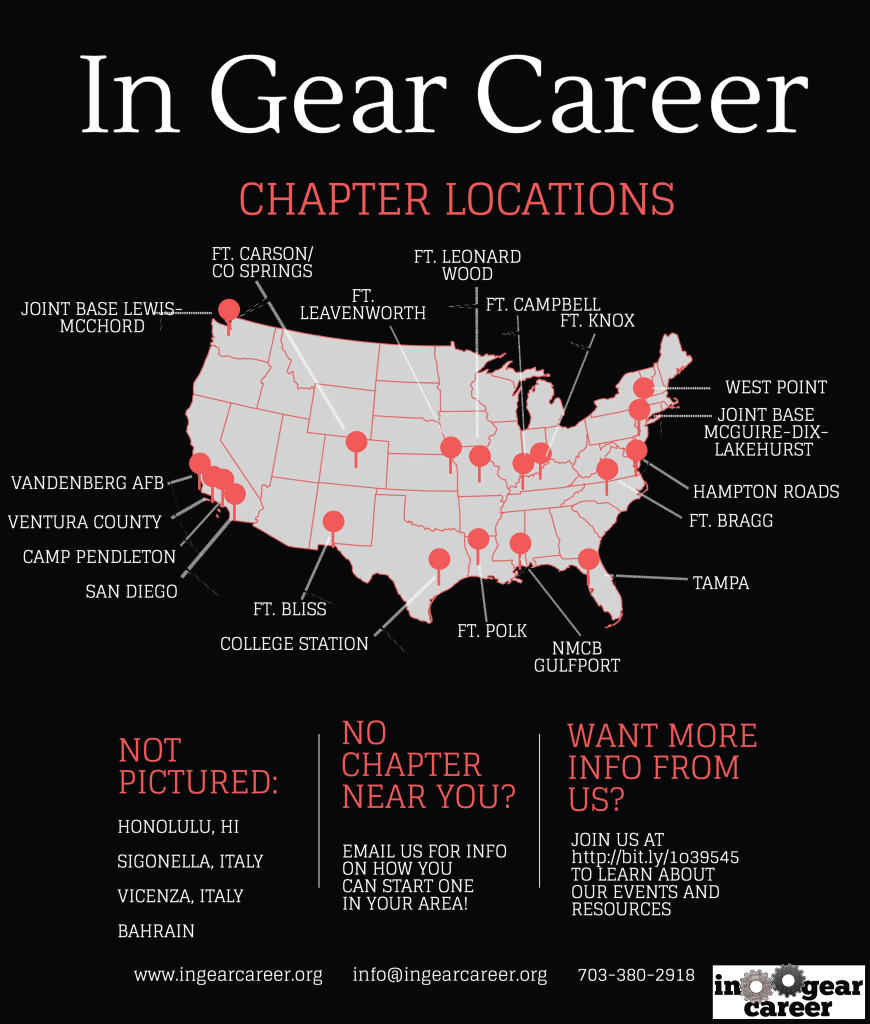 InGear Career Chapter Locations