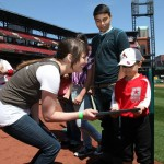 Sarah and kids at hitting for heroes (2)