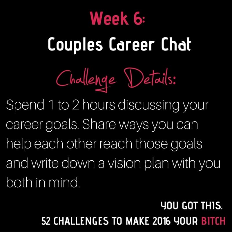 Week 6 Couples Career Chat