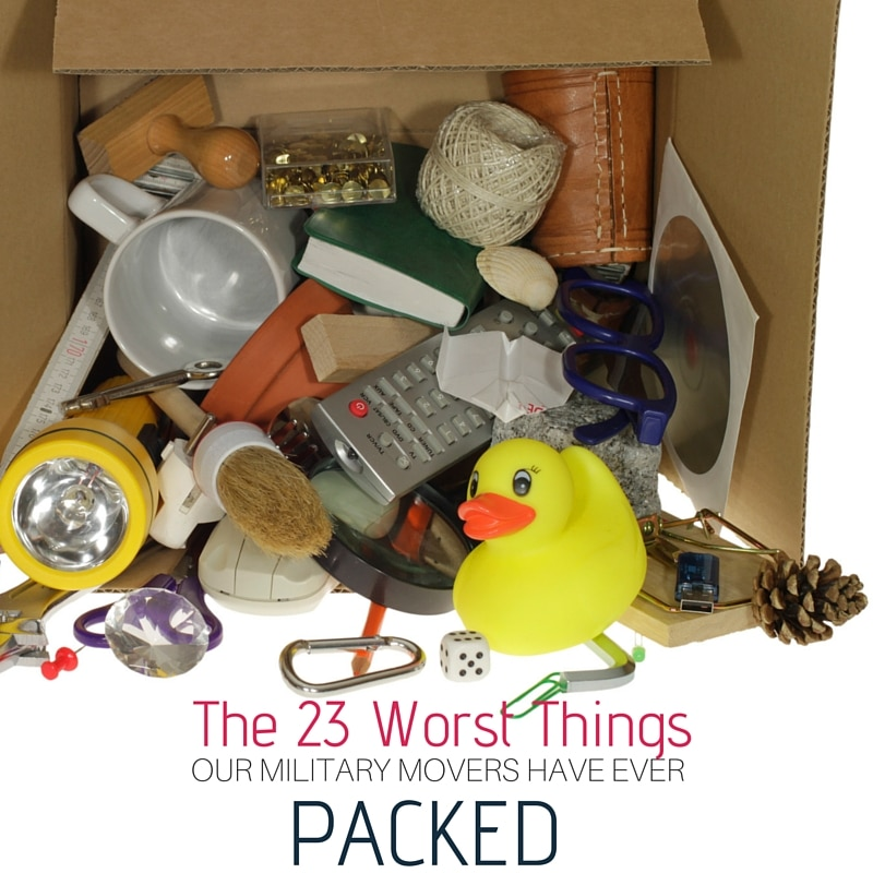 Worst Things Our Military Movers Ever Packed