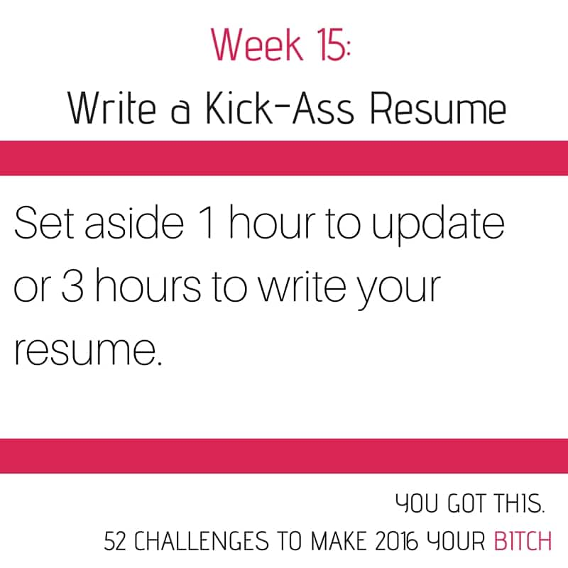 Week 15 Write Your Resume
