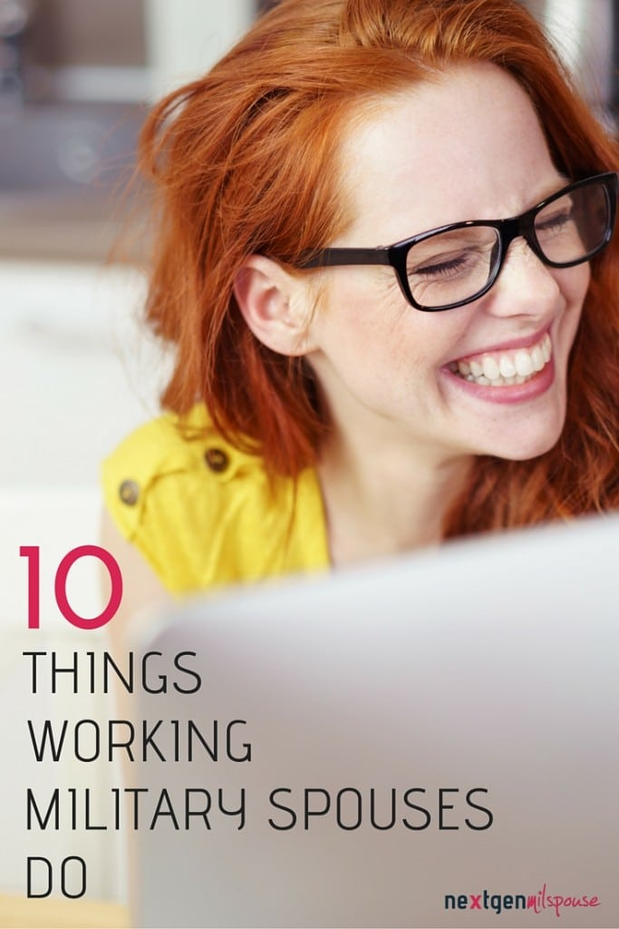 Pinterest 10 Things Every Working Military Spouse Does