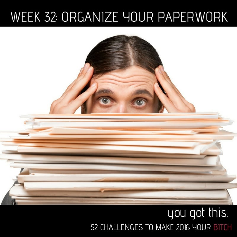 52 Goals Week 32: Organize Your Paperwork