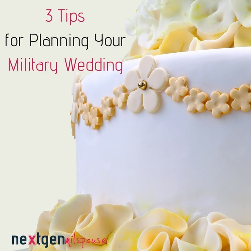 3 Tips for Planning Your Military Wedding