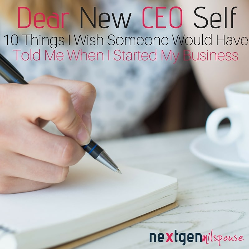 Corrected Dear New CEO Self
