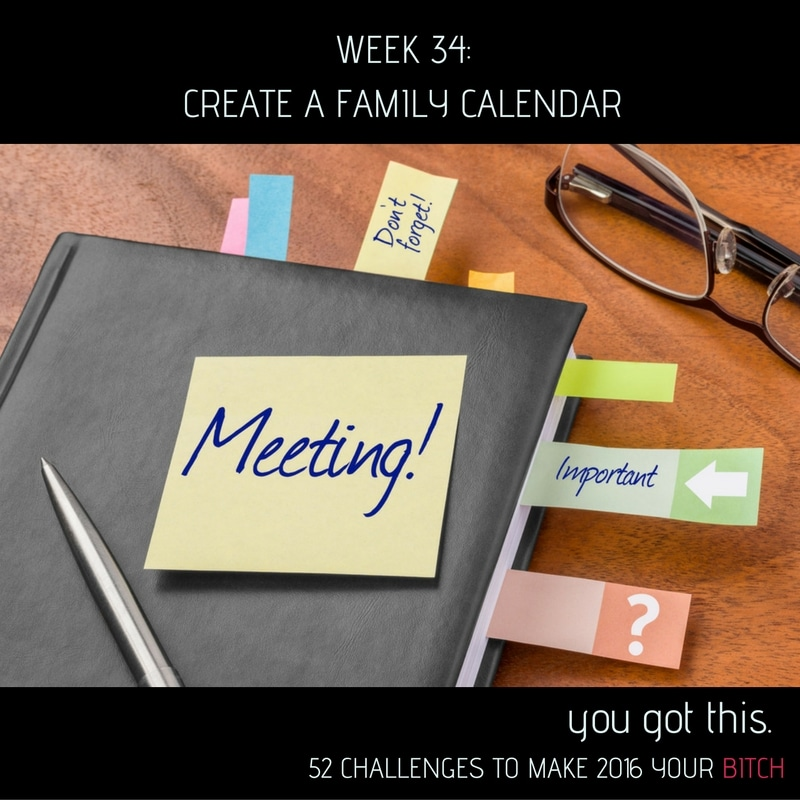 Week 34 Find and Use a Family Calendar