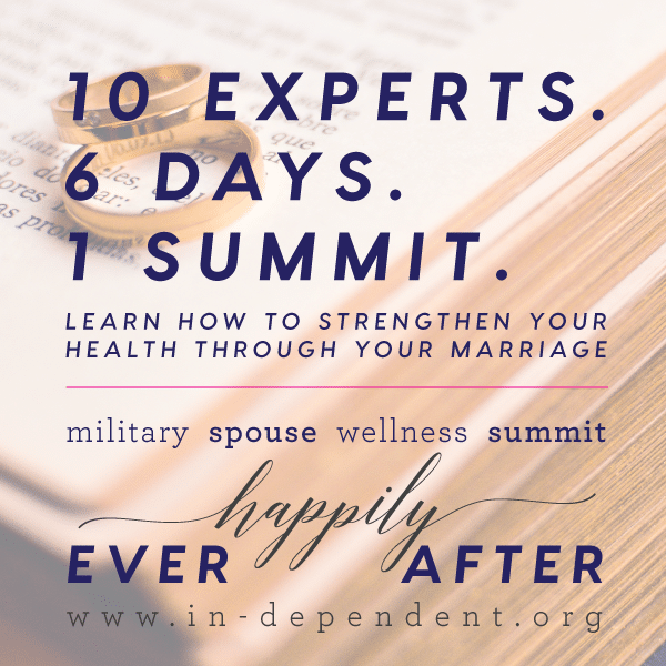 The virtual Military Spouse Wellness Summit will inspire conversations and spark discussions with your spouse. Sign up today. No pants required.