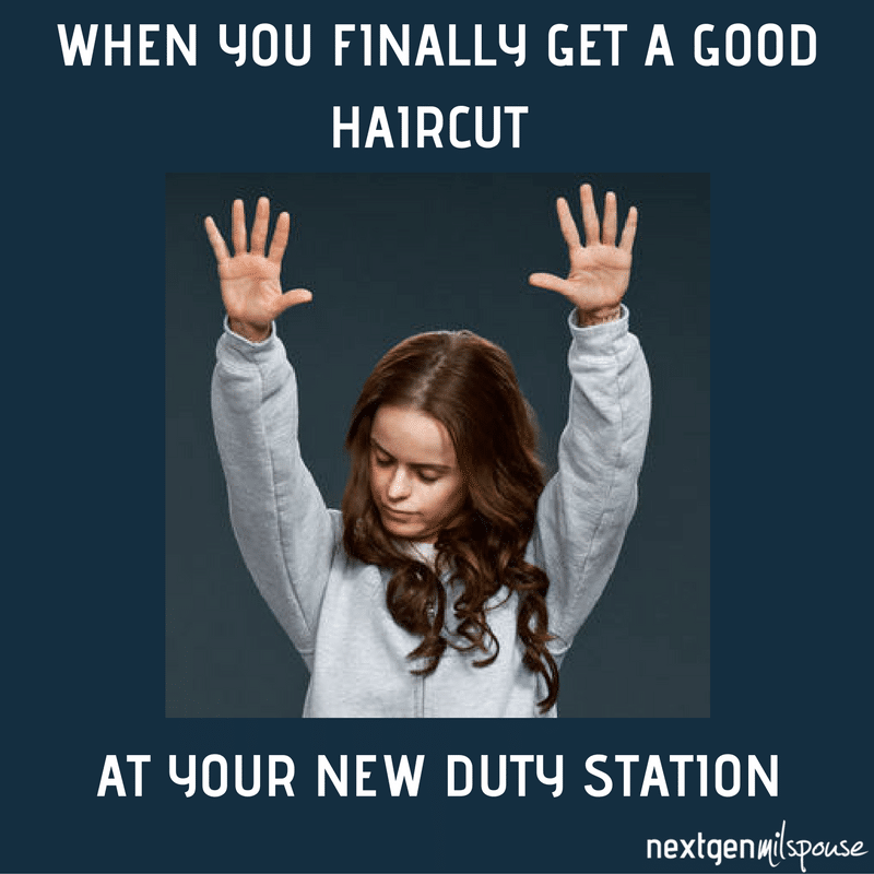 Finding a new hair stylist after you move with the military