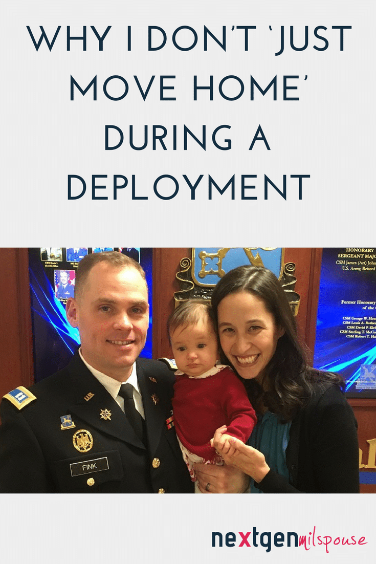 Why I Don't 'Just Move Home' During a Deployment