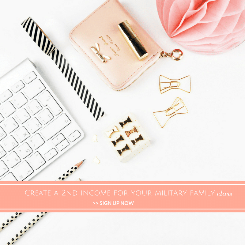 Kayla Roof's Created a Second Income for Your Military Family Class