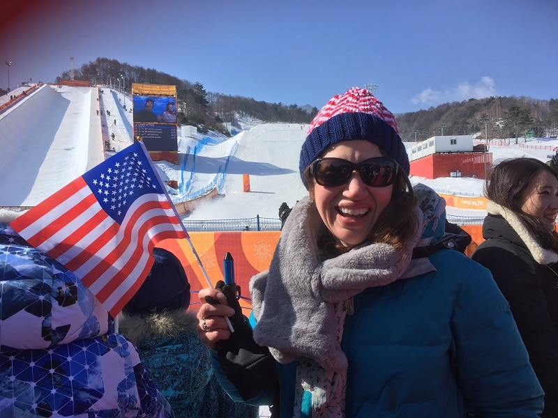 This Military Spouse Grabbed The Rare Opportunity To Volunteer At The Winter Olympics