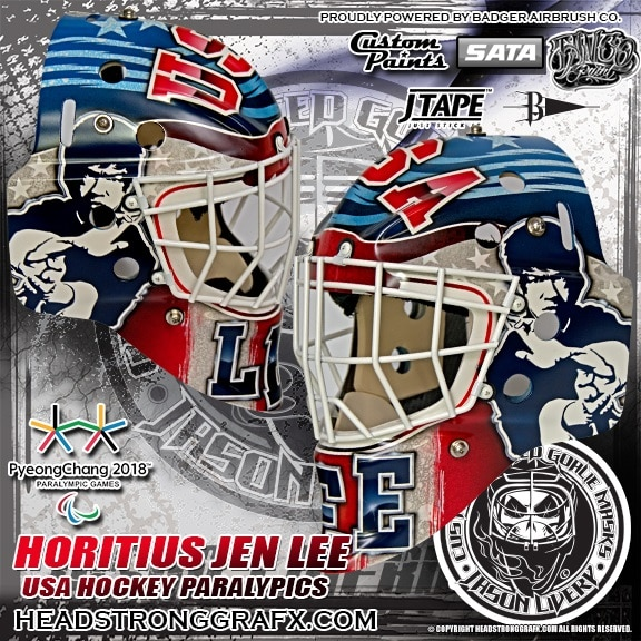 Air Force spouseJason Livery is the owner and artist of Head Strong GraFx. Hecustom paints goalie masks for the world's top goalies from the NCAA and NHL.