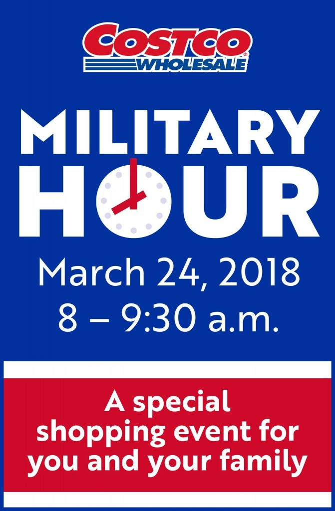 Costco Invites Military Families To Its 'Military Hour' On March 24