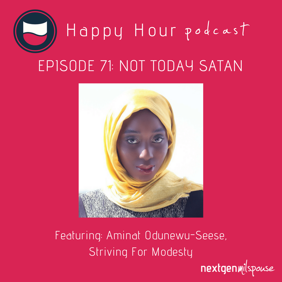 This week on the Happy Hour we talk to milspouse entrepreneur Aminat Odunewu-Seese about launching and running her online boutique Striving for Modesty.