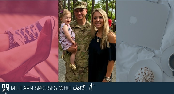 Traci McCombs, a management analyst, said the work-life balance of a military spouse is always challenging.