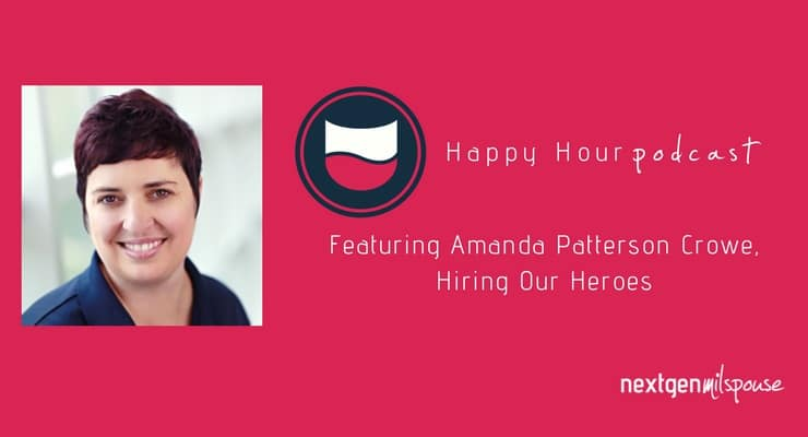 Amanda Patterson Crowe gets the Happy Hour crew up to speed on Hiring Our Heroes Military Spouse Professional Network, formerly In Gear Career.
