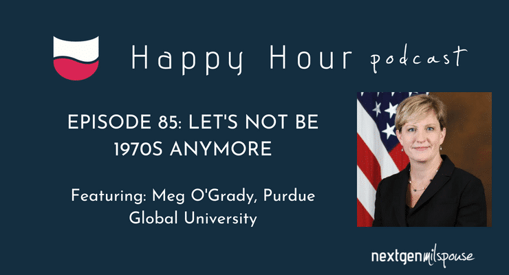 Meg O'Grady tells us how Purdue Global can help military spouses achieve their education goals from wherever they are stationed.